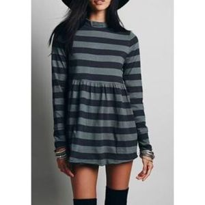 NWT FREE PEOPLE L MOD ABOUT IT STRIPED TUNIC TOP